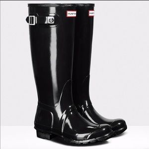 HUNTER GLOSSY-TALL RAIN-BOOTS